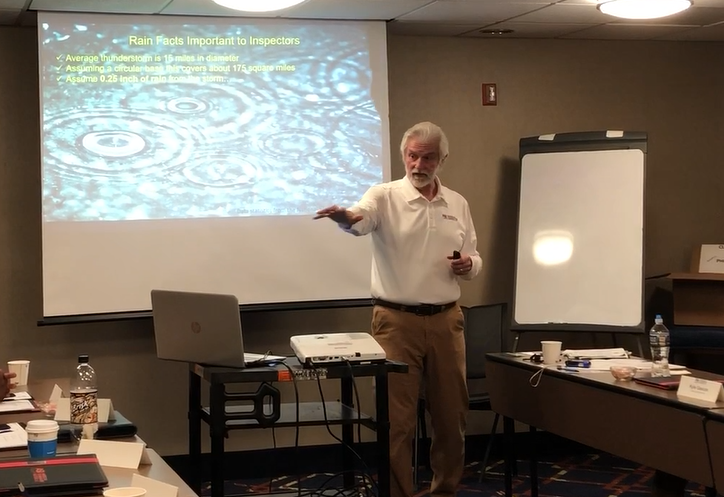 Fred Heitman teaching stormwater management class 2019